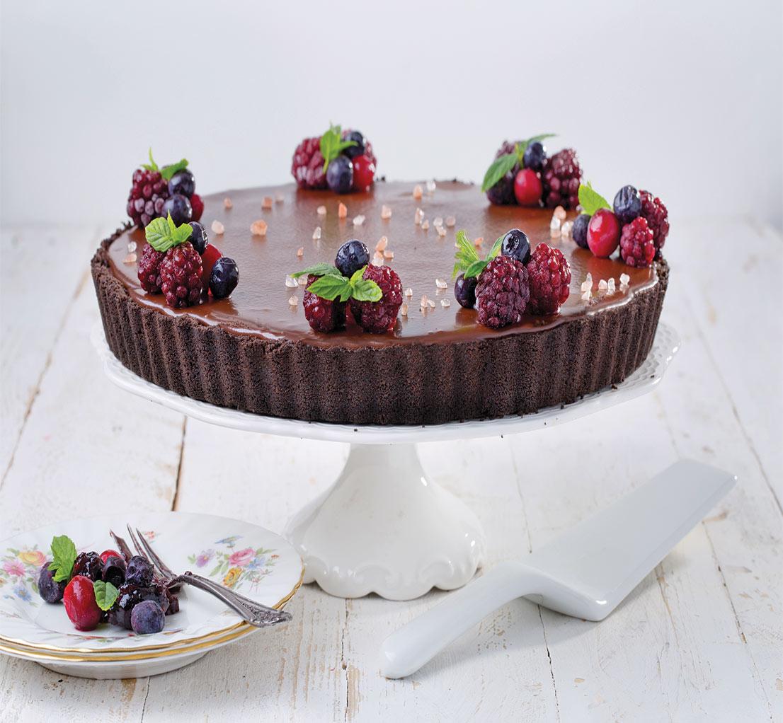 טארט שוקולד עם פירות יער