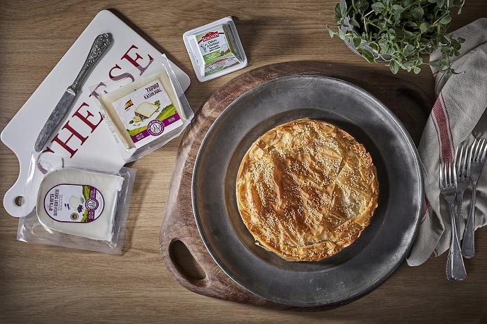 פסטייה גבינות, תרד ועגבניות מיובשות